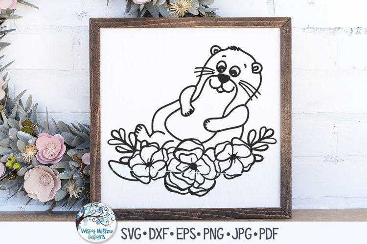 Floral Otter SVG