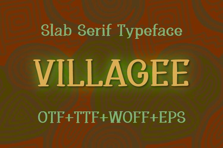 Villagee slab serif font