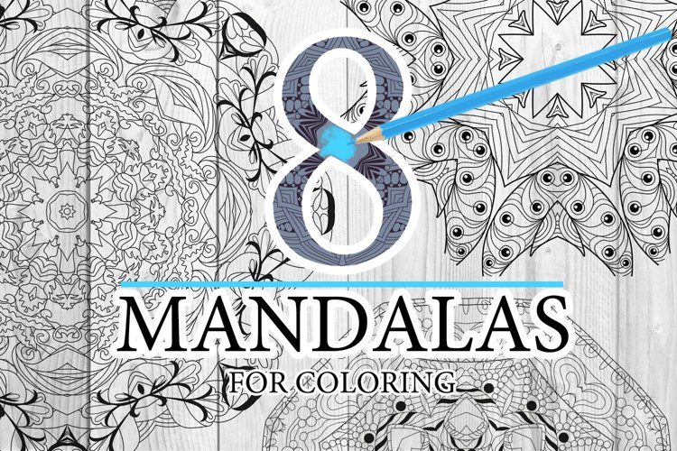 Mandalas for coloring12 example image 1