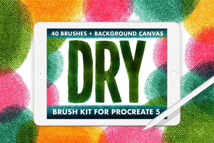40 DRY BRUSH KIT FOR PROCREATE 5 example image 1
