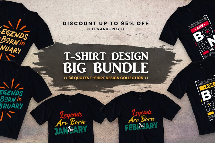 Quotes t shirt design big bundle example image 1
