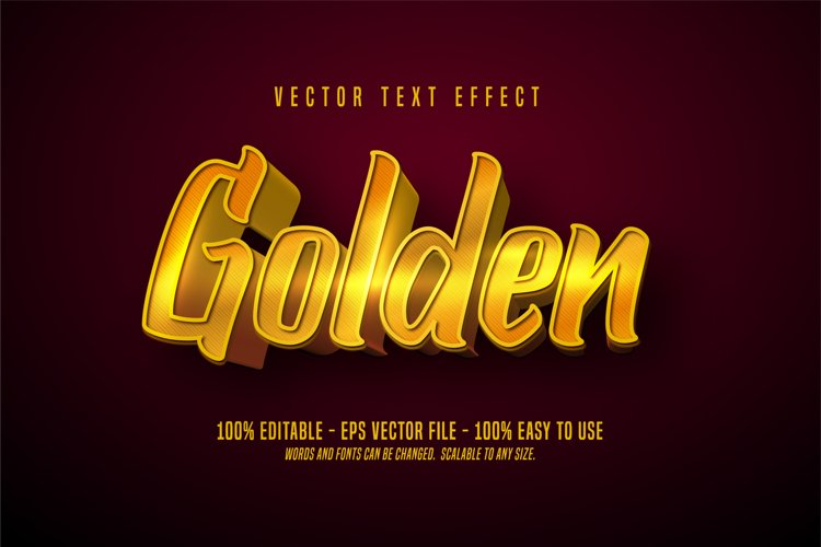 Golden editable text effect example image 1