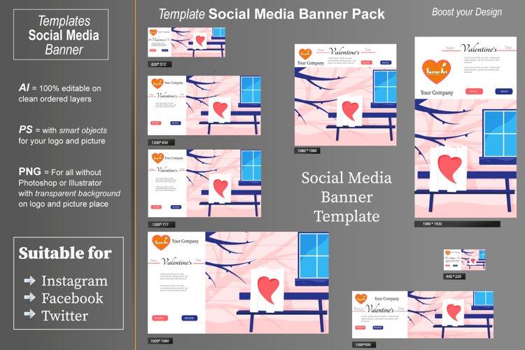 Template - Social Media Banner- Valentines Backyard