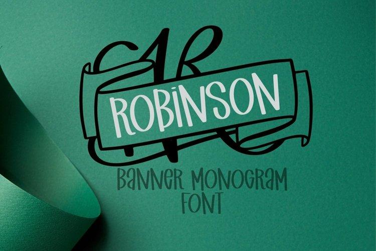 Web Font Monogram Banner Font - Banner Letters For Names example image 1