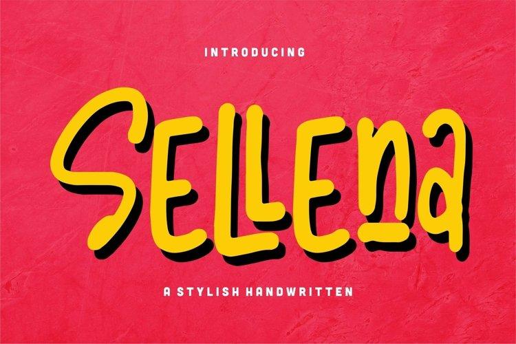 Web Font Sellena - A Stylish Handwritten Font example image 1