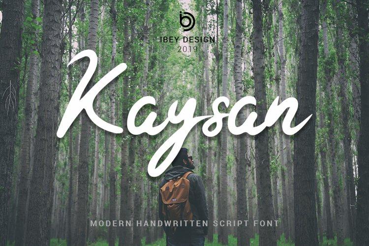 Kaysan - Modern Handwritten example image 1