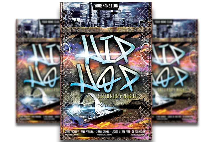 Hip Hop Flyer Template #4 example image 1