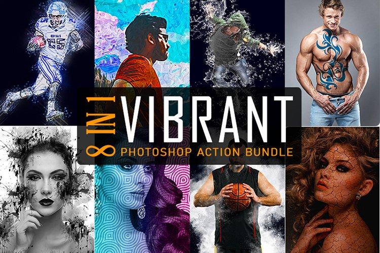 8 IN 1 Vibrant Photoshop Action Bundle