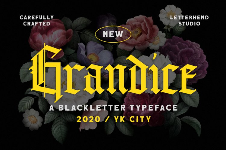 Grandice - Blackletter Typeface example image 1