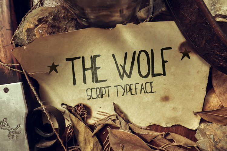 The Wolf font example image 1