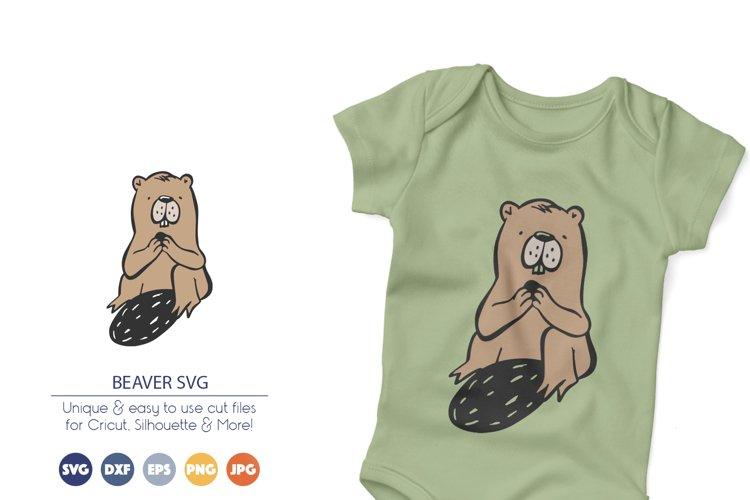 Beaver SVG Cut File example image 1