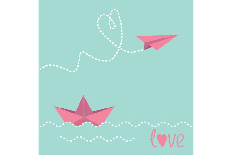 Paper boat and paper plane. example image 1