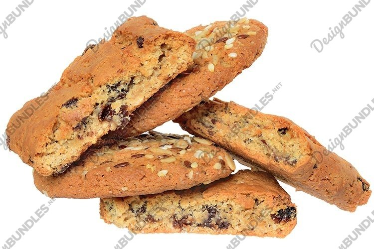 Stock Photo - Homemade shortbread cookies top view isolated example image 1