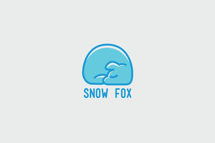 Snow Fox Logo Template