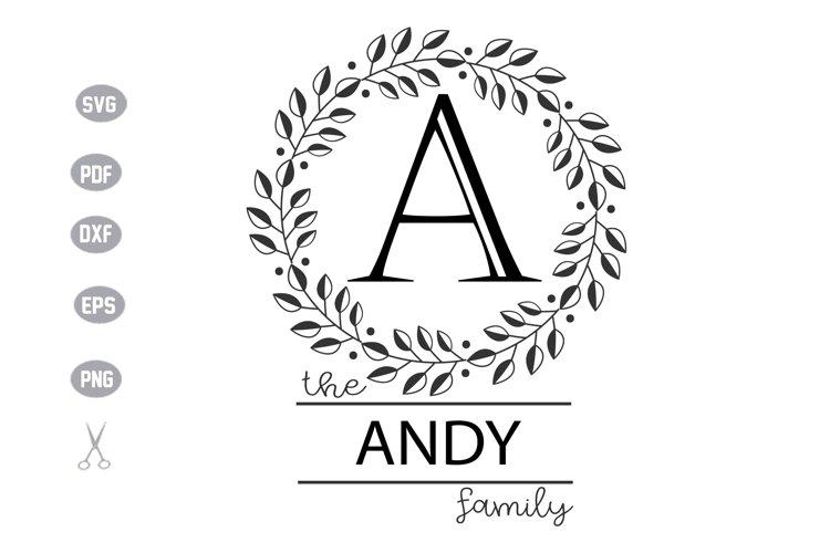 Family Monogram Template SVG Design example image 1