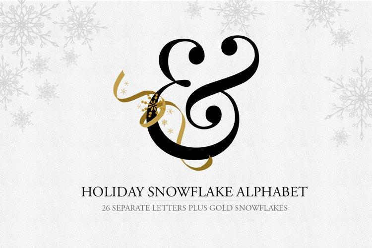 Snowflake Alphabet Letters