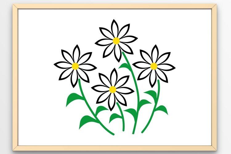 Flowers svg Daisies svg Flower svg