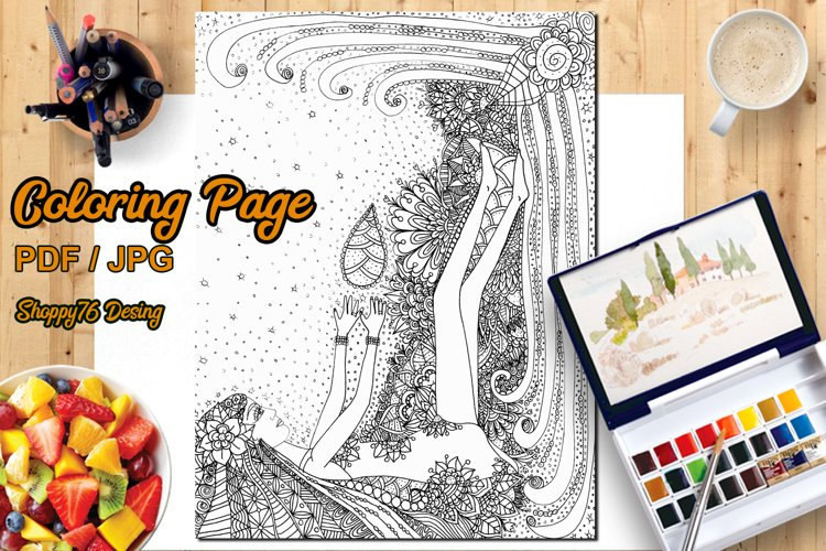 Game with life / Coloring page / Digital Stamp example image 1
