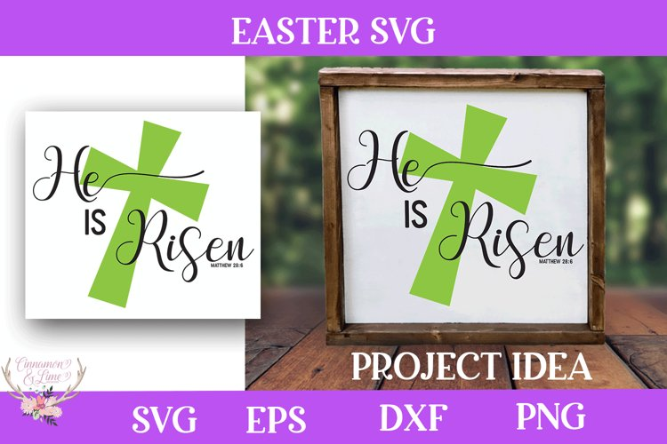 Easter SVG - He is Risen Christian Cut File
