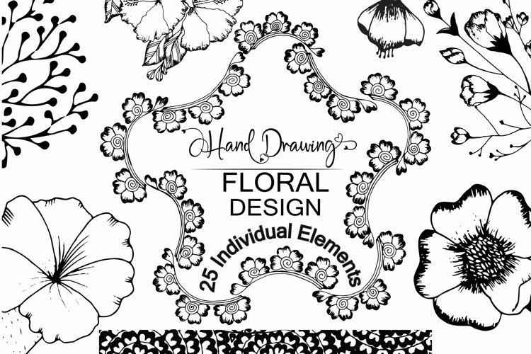 Hand Drawing Floral Illustration