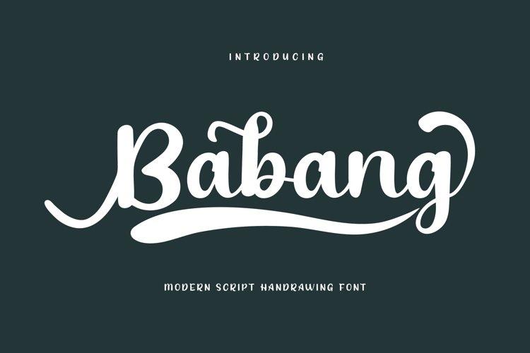 Babang example image 1