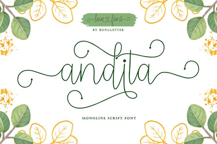 Andita - Monoline Script example image 1