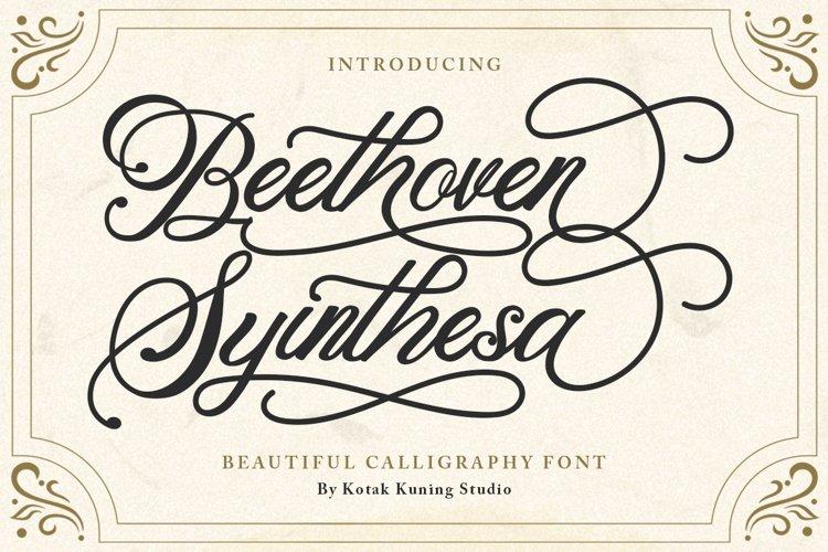 Modern Calligraphy - Beethoven Syinthesa example image 1