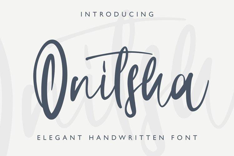 Onitsha Handwritten Script example image 1