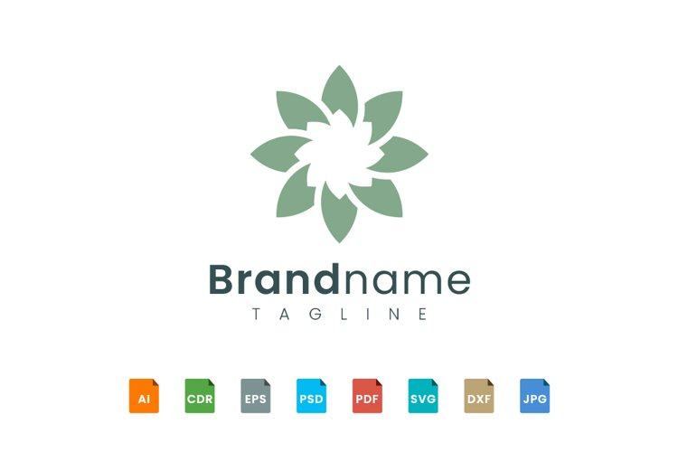 Flower star logo template example image 1