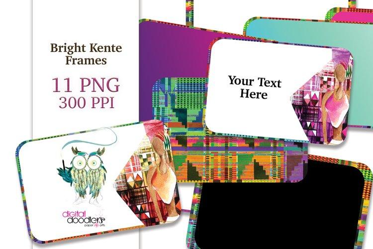 Bright Kente Frames & Tags
