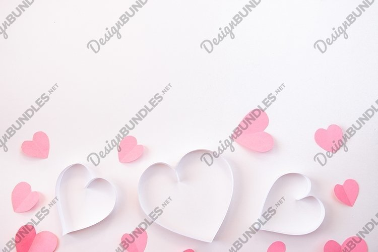 Heart on a white background. Valentine's Day. example image 1