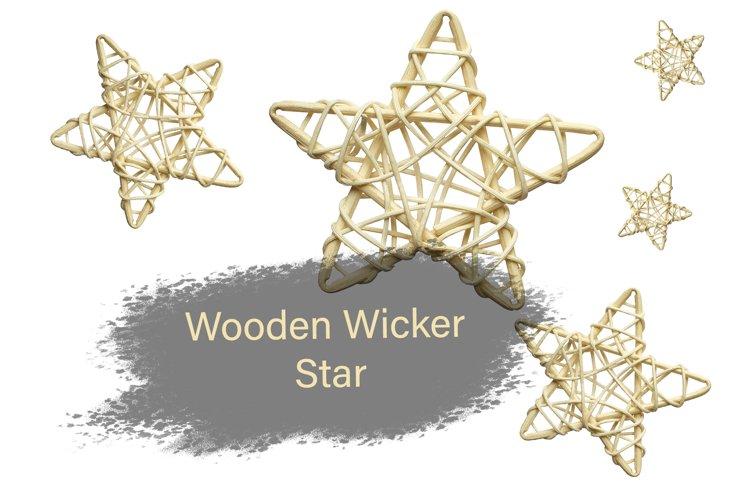 Wicker wooden star