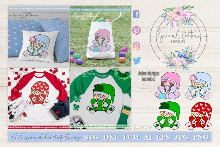 Gnome Girl Bundle of 4 SVG Cut Files LL20Jan03