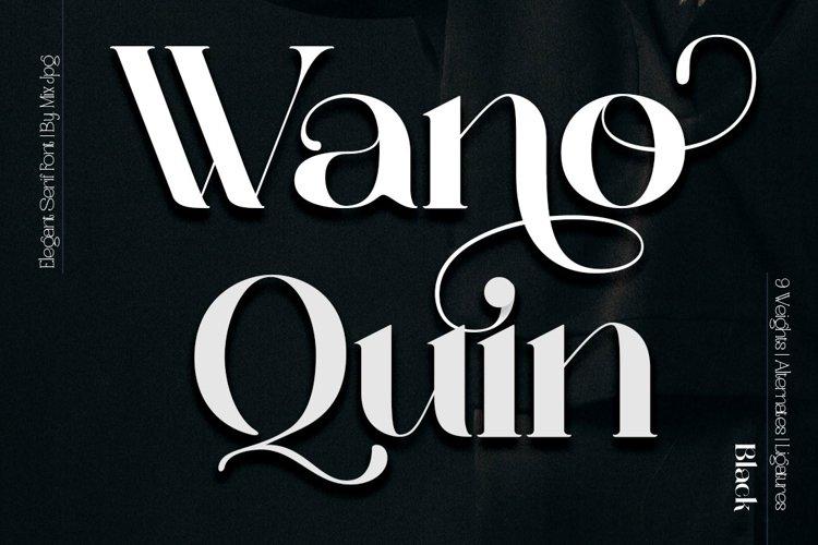 Wano Quin Black| Beautiful and Elegant Serif Font example image 1