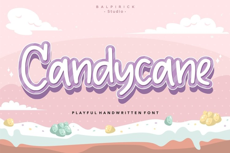 Candycane Playful Handwritten Font example image 1