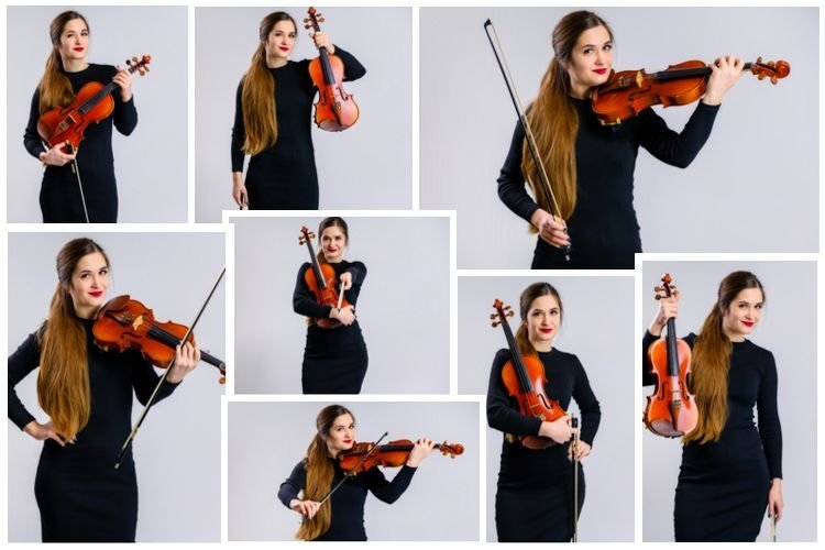 10 stylish conceptual photos of a girl with a violin