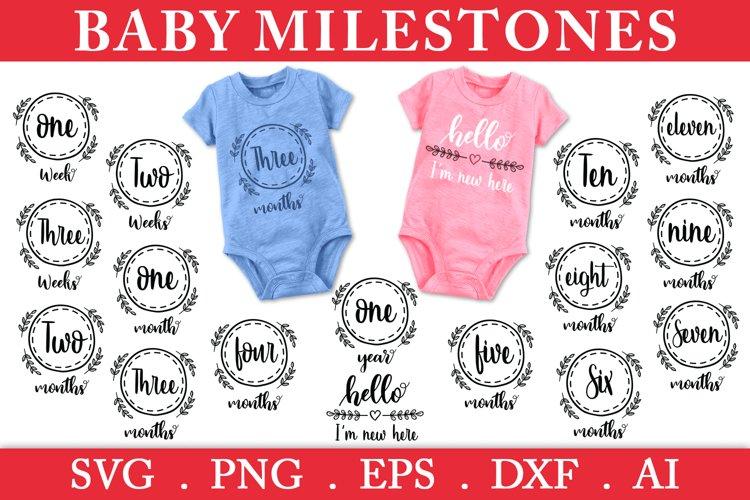 SALE! Baby milestones svg, baby months svg, hello world svg