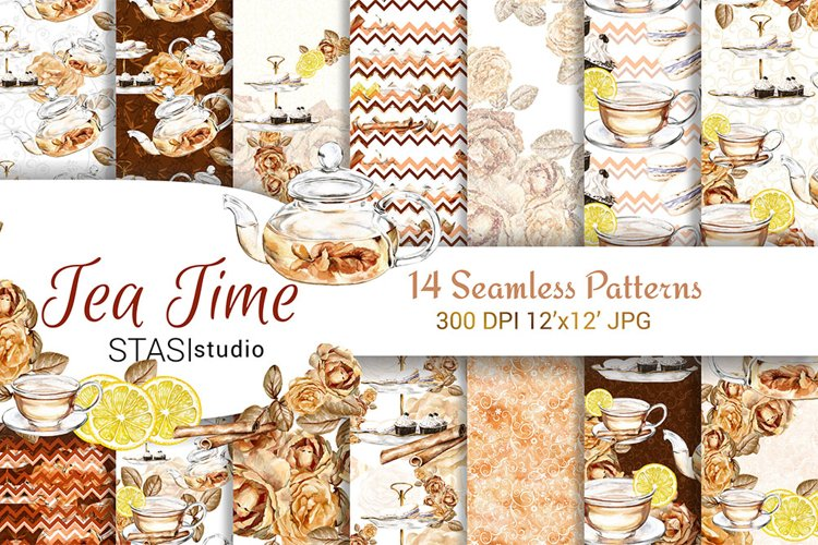 Tea Time Paper Pack example image 1