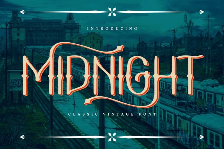 Midnight | Classic Vintage Font example image 1