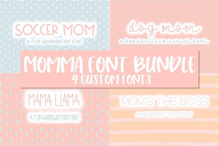 Momma Font Bundle | 4 Custom Fonts example image 1