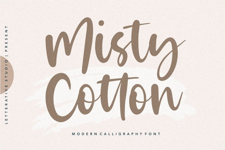 Misty Cotton Modern Calligraphy Font example image 1