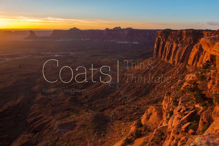 Coats Thin & Coats Thin Italic example image 1