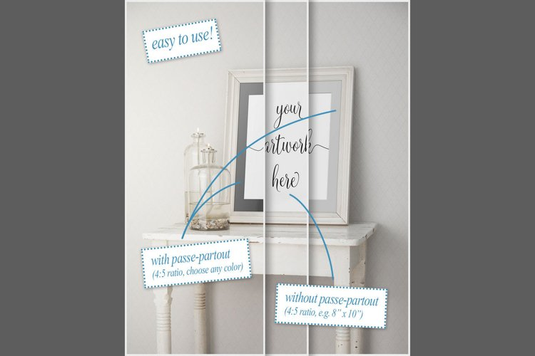 Frame mockup - clean bright interior oil lamp example image 1