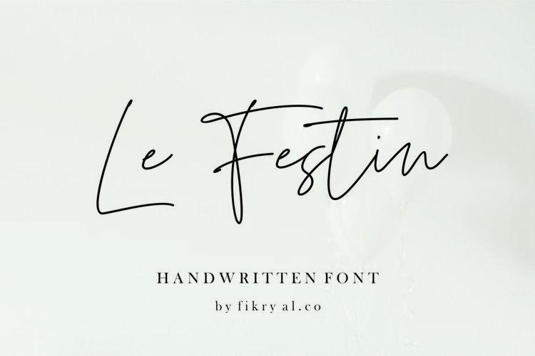 Le Festin // handwritten font example image 1