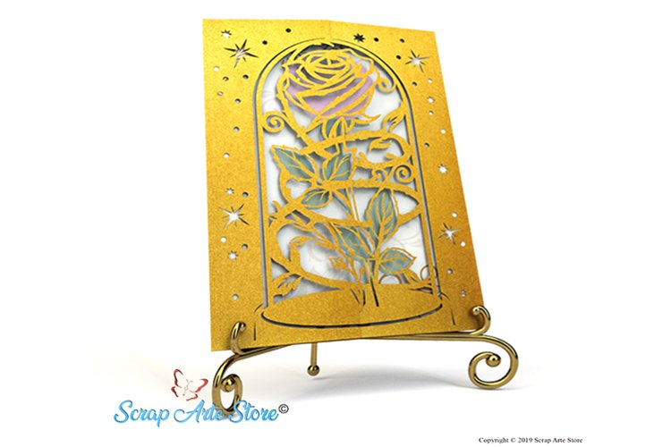 Download Invitation To Beauty And The Beast 279641 Paper Cutting Design Bundles