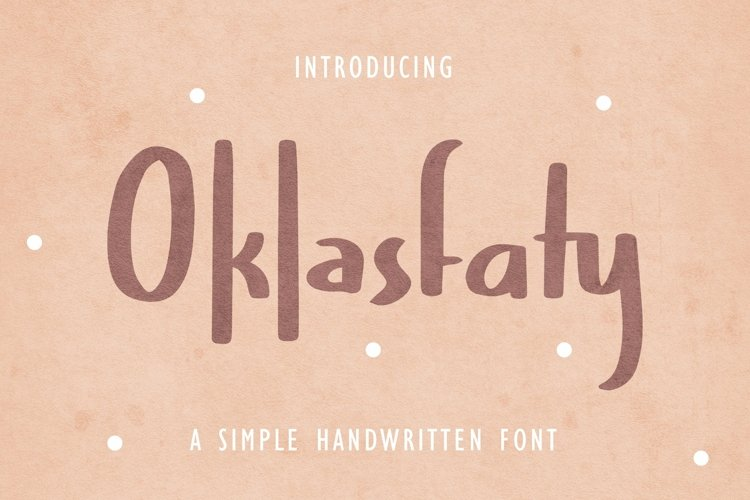 Web Font Oklasfaty - Simple Handwritten Font example image 1