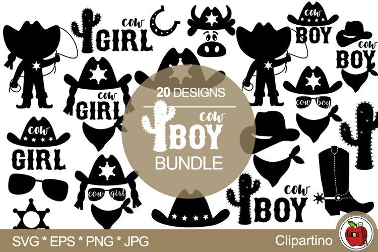 Little Cowboy Cowgirl SVG Bundle-cowboy cowgirl print