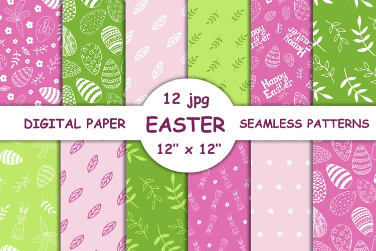 Collection of seamless patterns EASTER, Scrapbook paper