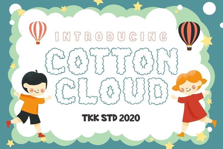 Cotton Cloud - Kids Cute Font example image 1