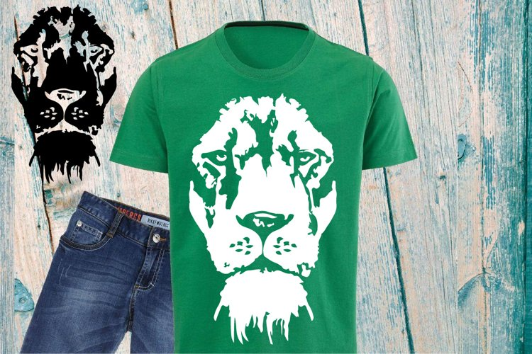 Lion Head SVG wild animal african king zoo 930S example image 1